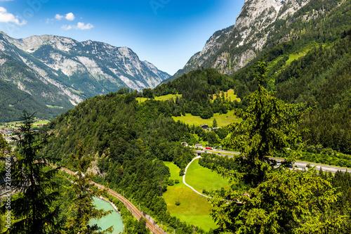 In de dag Alpen Idyllic summer landscape in Austrian Alps
