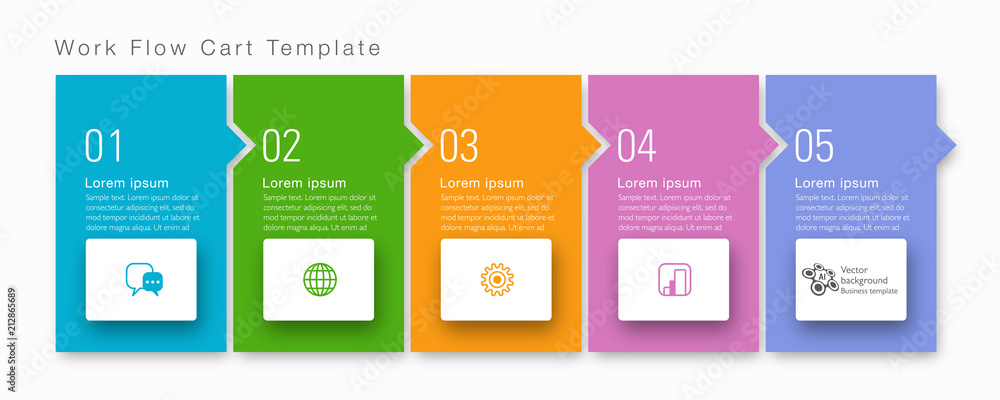 Fototapeta Timeline, Flowchart Design #Vector Graphics