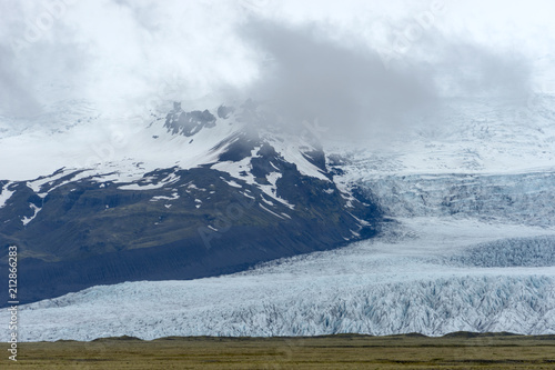 Foto op Canvas Gletsjers End from the glacier lagoon in Iceland