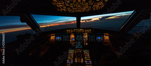 Canvas Tropical flightdeck sunrise