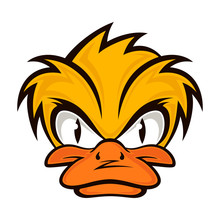 Cartoon Evil Face Duck On The ...