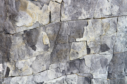 In de dag Stenen Grey grunge beautiful stone surface texture with cracks. Limestone rock background.