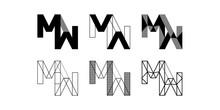 MW Logo, Monogram, Vector