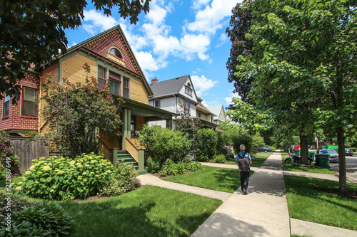 Photographie USA / Chicago - Wooden houses in Oak Park
