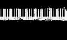 Grunge Piano Background