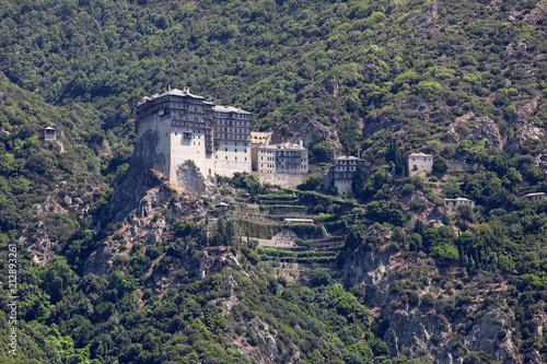 Fotografie, Obraz  Orthodox monastery of Simonopetra on the rocks of Athos