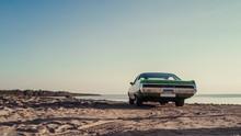 Retro Car On The Beach
