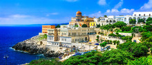 Santa Cesarea Terme - Beautiful Coastal Town In Puglia, South Of Italy