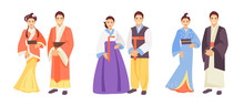 Asian Costumes Vector