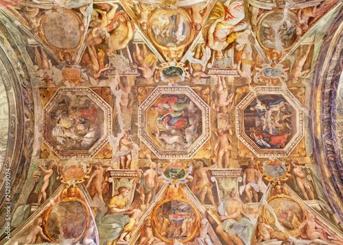 Valokuva  PARMA, ITALY - APRIL 17, 2018: The fresco on the cieling of church Chiesa di Santa Maria degli Angeli by Giovanni Maria Conti and Pier Antonio Bernabei (1620)