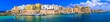 canvas print picture Panorama of beautiful coastal town Gallipoli in Puglia, Italy