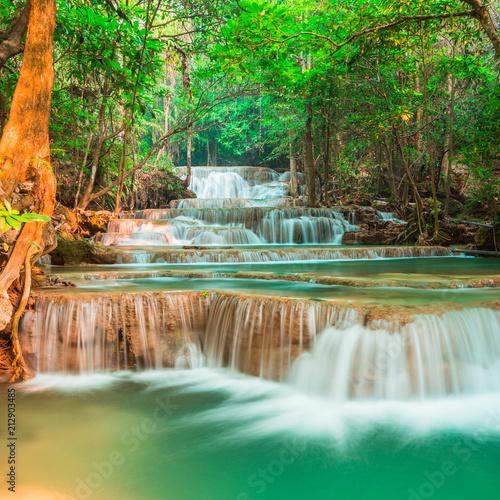 Recess Fitting Waterfalls Cool waterfall at Kanchanaburi, Thailand