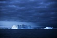 Iceberg And Overcast Sky, Anta...