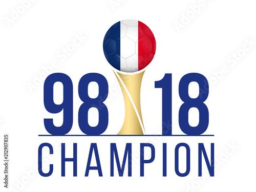 Fotografie, Obraz  FOOTBALL FRANCE - Champion Anniversaire 1998-2018