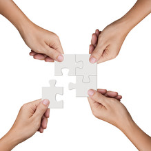 Hand Holding Jigsaw Puzzles, B...