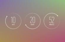 Digital Countdown Clock Counte...