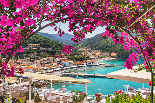 Beautiful Greek village Parga, Greece. Vacations concept