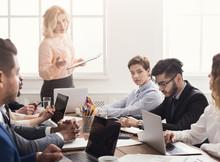 Team Leader Rebuking Employee For Mistake