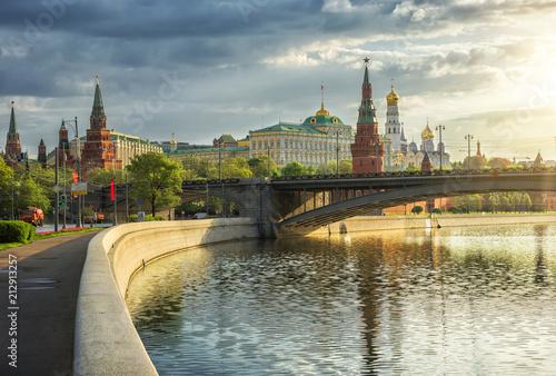фотография  Вид на Московский Кремль с набережной Москвы-реки ранним утром morning Moscow ci