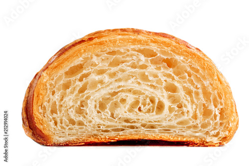 Fotografie, Obraz Croissant cut in a half