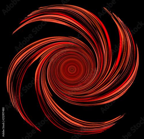 Fotografie, Obraz  Dessin d'une hélice en forme de spirale