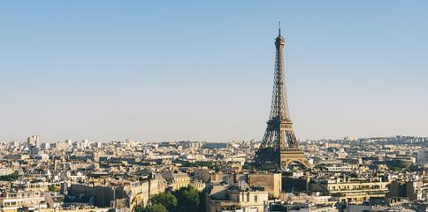 Paris Eiffel Tower with skyline