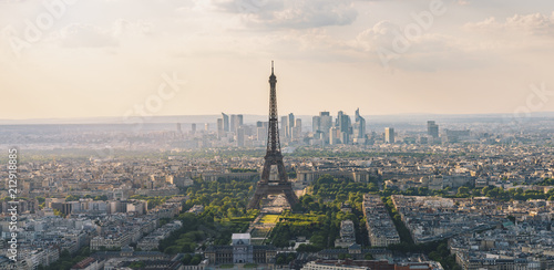 Photo sur Toile Europe Centrale Paris skyline view from the Montparnass tower