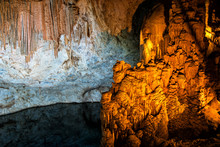 Stalactites And Stalagmites In A Cave In Turkey