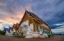 Wat Den Slaee Sri Muang Gan Panorama Temple (Wat Ban Den), The Beautiful Temple In Chiang Mai, Thailand