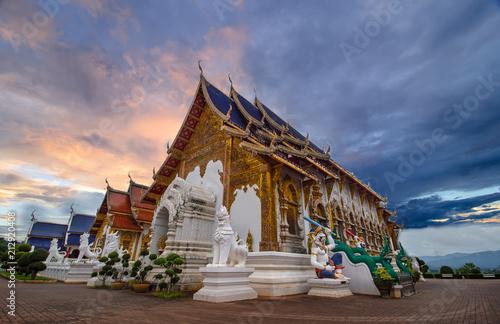 Deurstickers Bedehuis Wat Den slaee Sri Muang Gan Panorama Temple (Wat Ban Den), the beautiful temple in Chiang mai, Thailand