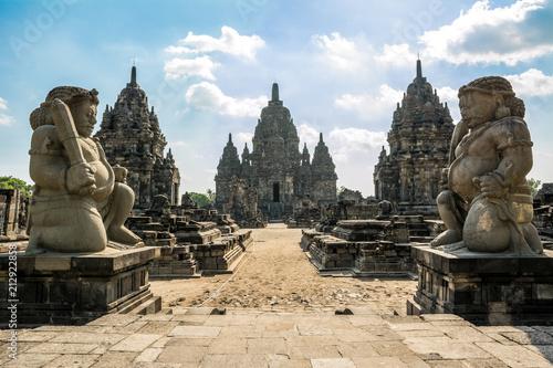 Fotomural ruins of prambanan temple in Yogyakarta, Indonesia