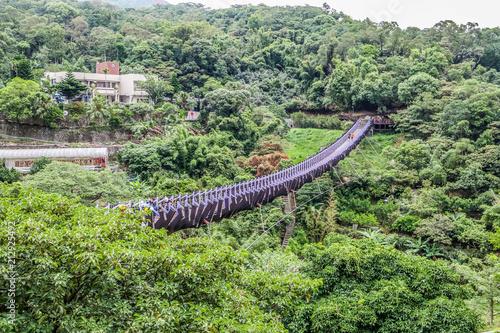 Fotografía  台湾 台北(内湖)内白石湖吊橋
