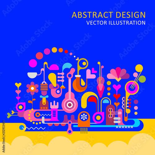 Staande foto Abstractie Art Abstract Design vector illustration