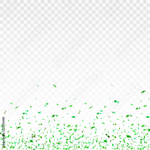 Obraz Stock vector illustration green confetti isolated on a transparent background EPS 10 - fototapety do salonu