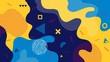 Creative vector illustration of children cartoon color splash background. Art design trendy 80s-90s memphis style. Geometric line shape pattern. Abstract concept graphic playground banner element
