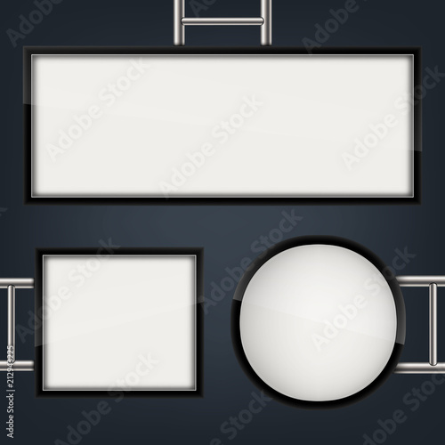 Creative Vector Illustration Of Street Sign Hanging Mounted