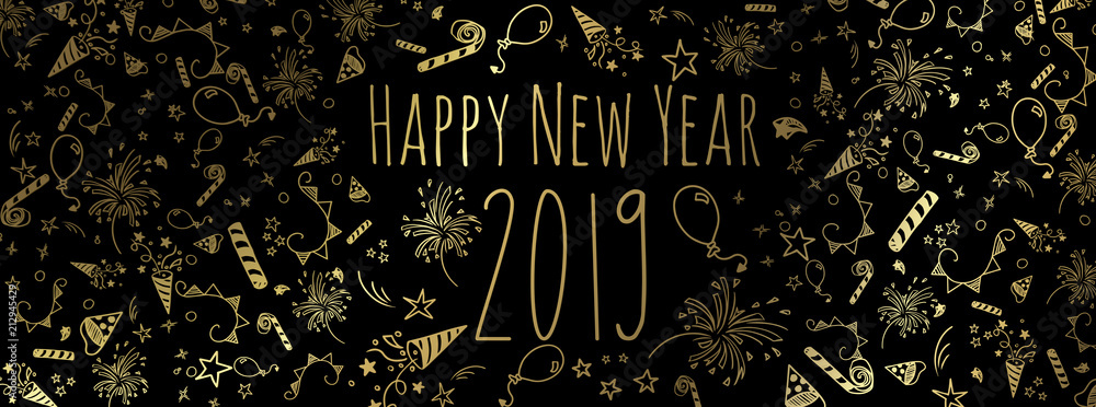 Fototapety, obrazy: happy new year 2019