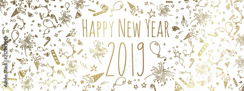 happy new year 2019 Wallpaper Mural