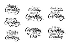 Great Day Lettering