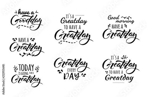great day lettering Wallpaper Mural
