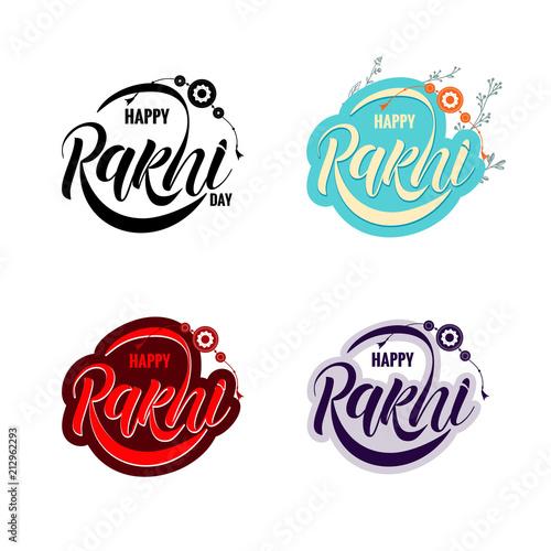 Photo  Rakshi typography lettering poster