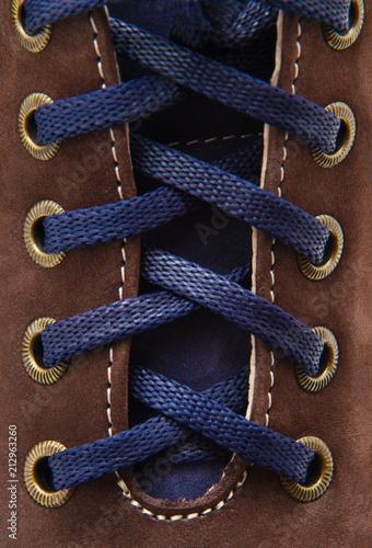 Fotografía  shoe laces in close-up