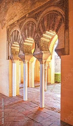 Foto op Aluminium Oude gebouw Arches in the Alcazaba of Malaga, Spain