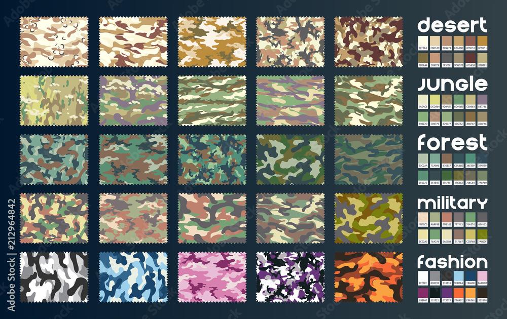 Fototapeta Camouflage fabric vector