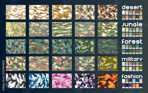 obraz lub plakat Camouflage fabric vector