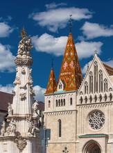 Detail Of St Matthias Church In Budapest