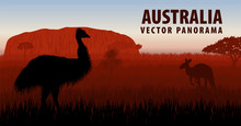 Vector Panorama Of Australia W...