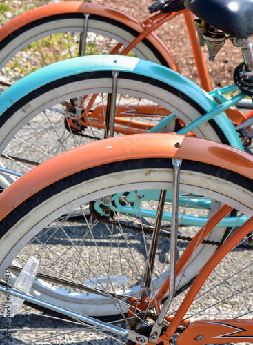 Foto op Aluminium Fiets Vintage summer beach bicycles in a row