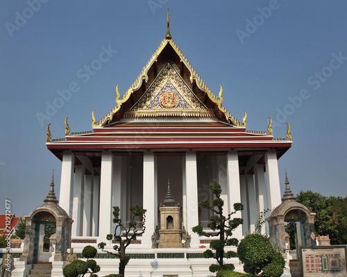 In de dag Bangkok Wat Suthat Principal Wihan in Bangkok. Kingdom of Thailand