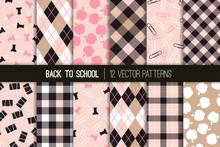 Pink Black Back To School Vect...